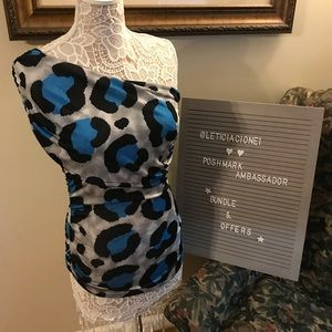 Off the shoulder Animal Print Women's Top